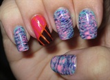 Fanbrush With Triple Colour Striping