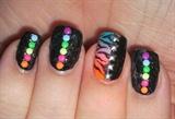 Neon Studs with Zebra