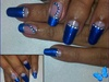 *Blue Half moon Nails*