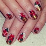 Poinsettia Nails