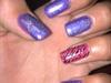 Gel Nails With Polish And Nail Stamping.