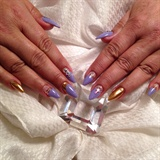 Acrylic Nails With Gel Nail Art