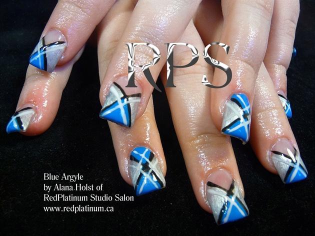 Blue Argyle-A Classic!