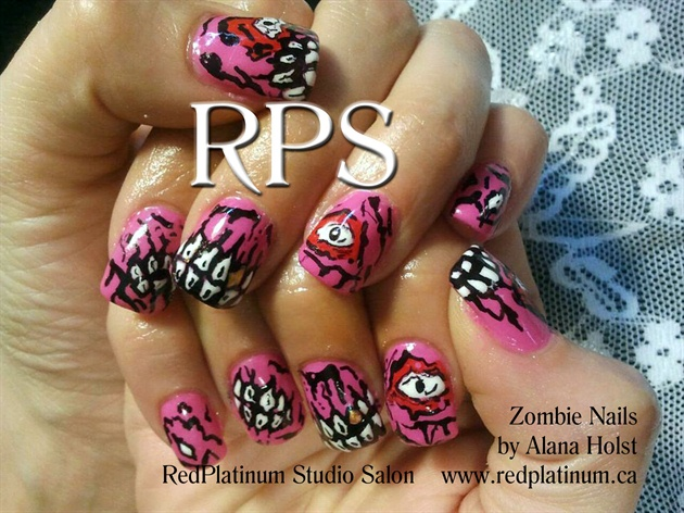 Zombie Nails - Zombie Nails - Nail Art Gallery