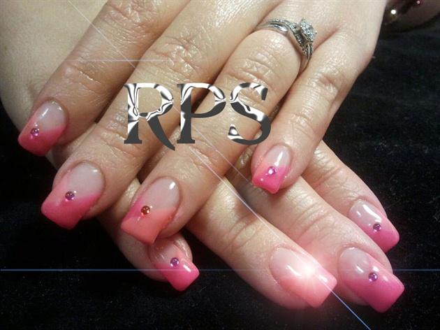 Criss Cross Orange and Pink