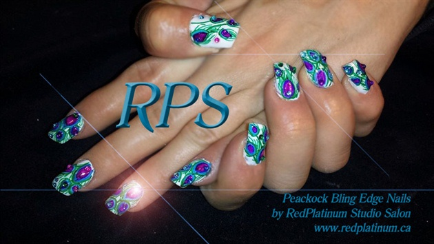 Peacock Edge Nails