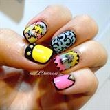 Ejasi color gel nails design