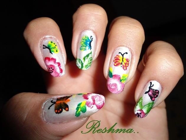 my nail art.. (1 stroke)