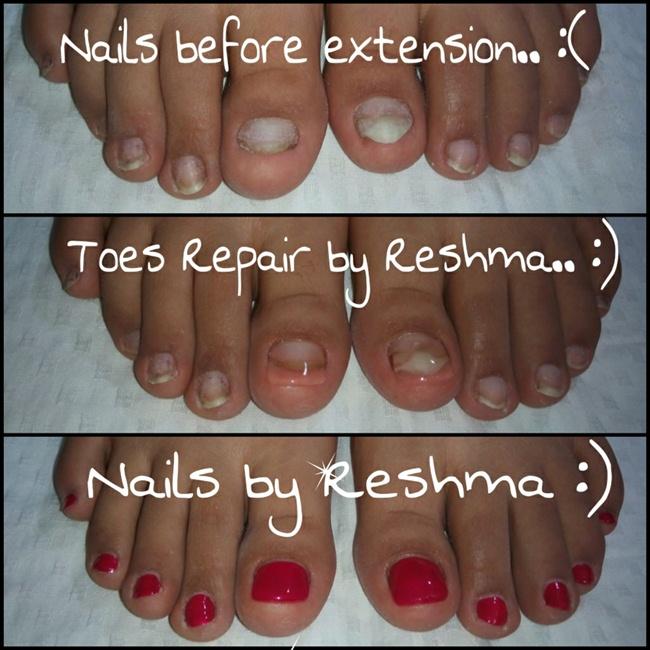 toe nail extension by Reshma.. :) - Nail Art Gallery