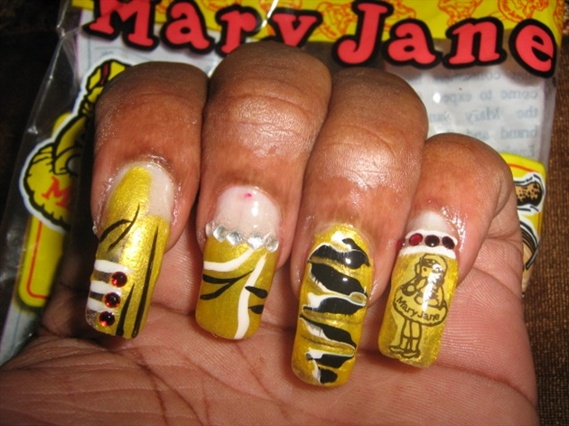 Mary Jane Nail Design