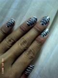zebra nail art design...