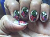 flower@ butterfy nail art