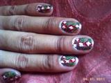 xmass flower nail art
