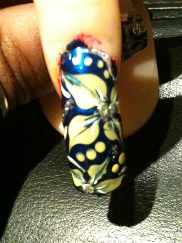 Marbling (handpainted)