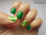 Spring Green with Flowers