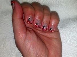 Minnie and glitter