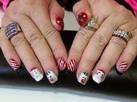 nail art: Holly jolly Christmas