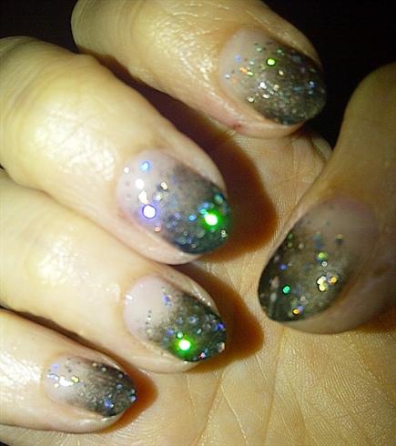 Black Gradient and Glitter