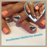 Salmon & Baby Blue Shellac