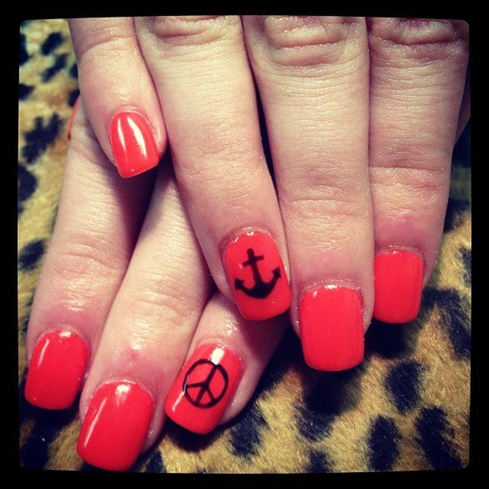 Peace Anchor Nail Art Gallery