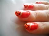 Orange animal print 1
