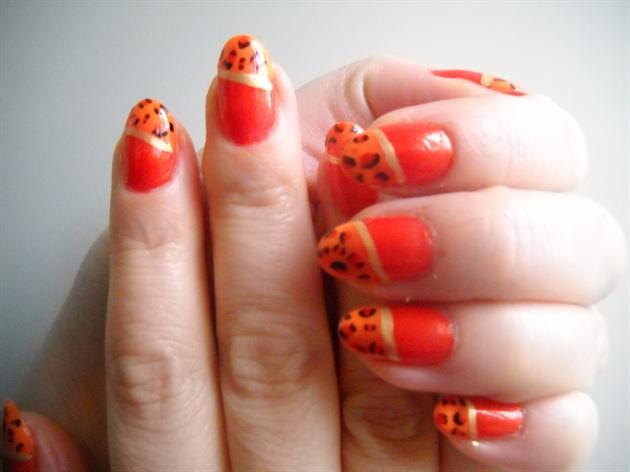 Orange animal print 2