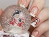 Chritmas nails - Snow and snowman