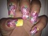 acrylic painted nail