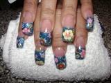 Flowers & glitter...
