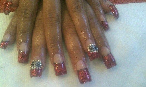 Red glitter CHANEL