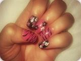 girly flowers n zebra