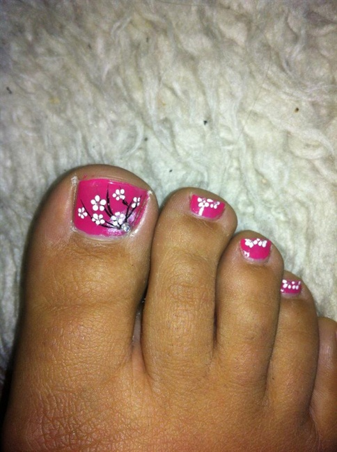 Toe Flower Art