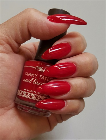 Don't forget the red polish!