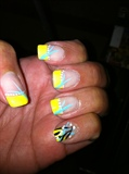 Yellow painted tips
