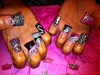Flare nails Barbie Style