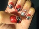 Santa belt nail