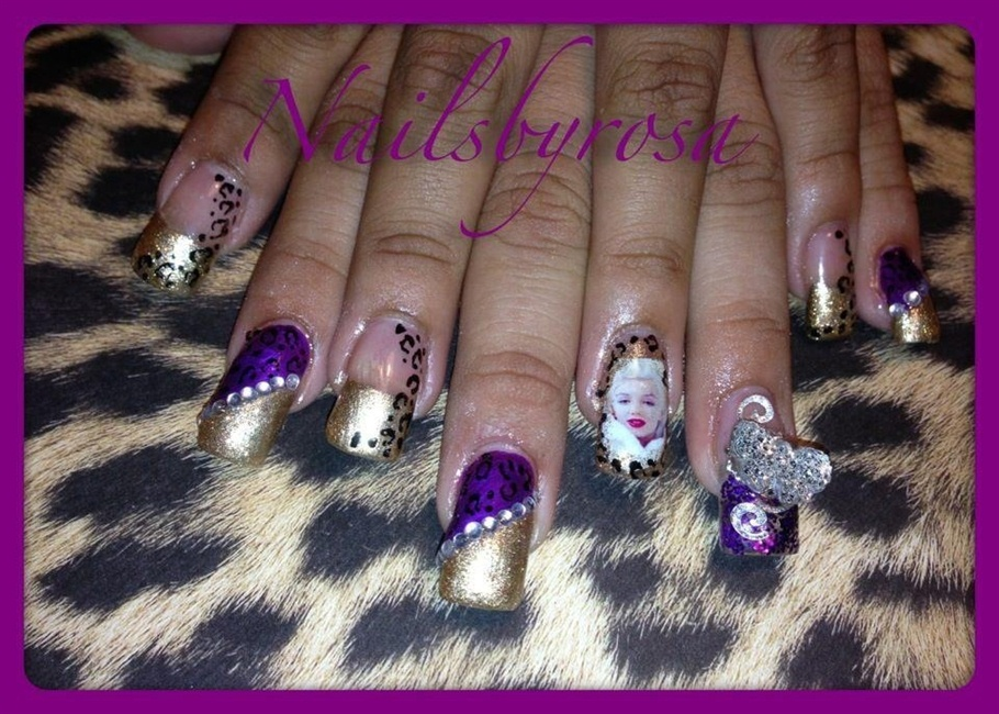 Marilyn Monroe nail art - Nail Art Gallery
