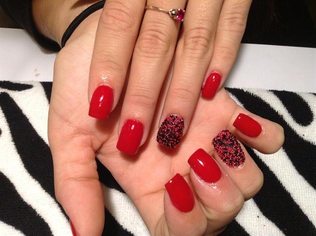 Red polish and caviar