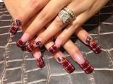 Miami-heat nails