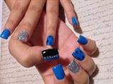 Blue silver black