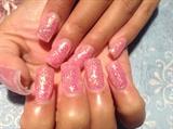 Pink acrylic set