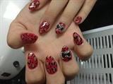 Red cheetah stiletto