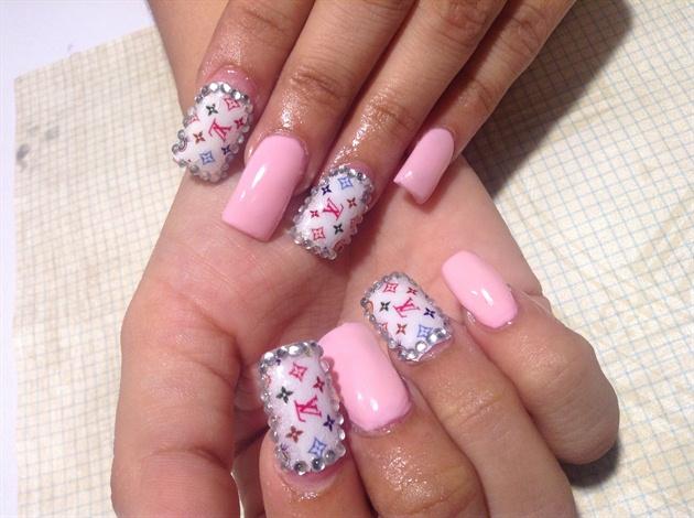 Pink And Lv Nails Nail Art Gallery