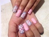 Pink and LV nails