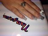 Silver glitter.