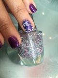 Cuccio Purple Gel W/Morgan Taylor Accent