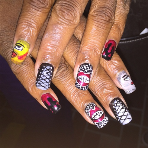Rocky Horror Show Nails Nail Art Gallery
