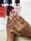 Gel pink manicure
