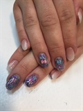 Ombré With Purple Glitter Bows