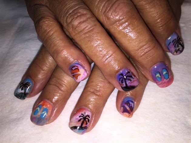 Beach Theme Nails Nail Art Gallery